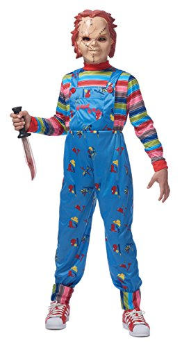 Child Killer Halloween Costume (Franco Chucky Child Good Guys Killer Doll Costume M/L)