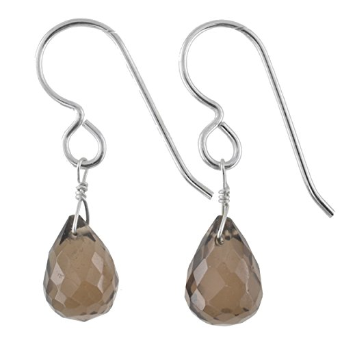 Smokey Quartz Gemstone Sterling Silver Handmade Earrings by Ashanti
