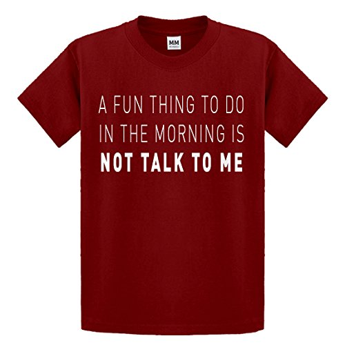 Youth Not Talk to Me Medium Red Kids T-Shirt