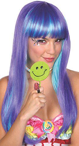 [Rubie's Costume Women's Candy Babe Adult Purple Wig, Purple, One Size] (Candy Woman Costumes)