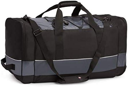 "SWISSGEAR 20"" Duffel Bag | Gym Bag | Travel Duffle Bags | Men's and Women's - Grey/Black"