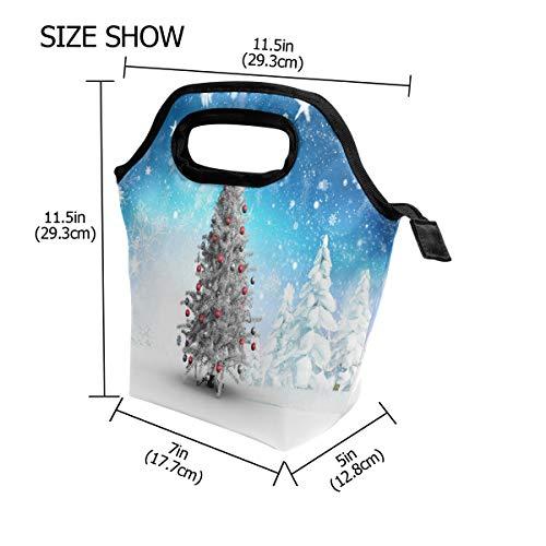 Bolsa Térmica Use7 Estrella Navidad Con Escuela El De Mujeres Para Hombres Diseño Almuerzo Árbol Y Picnic Pino Hq5dB5