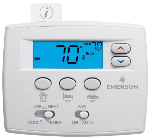 Emerson 1F89EZ-0251 Heat Pump Thermostat (Programmable Thermostat For Heat Pump With Auxiliary Heat)