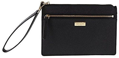 Kate Spade New York Tinie Laurel Way Saffiano Leather Wristlet Handbag Clutch (Black) by Kate Spade New York