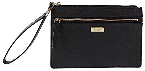 Kate Spade New York Tinie Laurel Way Saffiano Leather Wristlet Handbag Clutch (Black) by Kate Spade New York