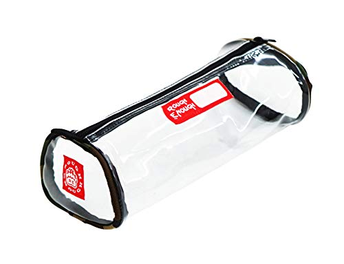 Rough Enough TSA Transparent Clear Big Pencil Case Portable