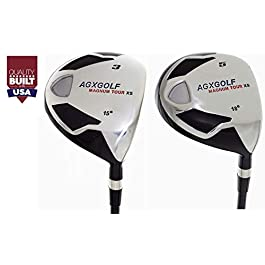 AGXGOLF Men's MAGNUM 3 + 5 Fairway Woods Set: Graphite Shafts + Head Covers Right Hand, Cadet, Regular or Tall Length, Senior, Regular or Stiff Flex