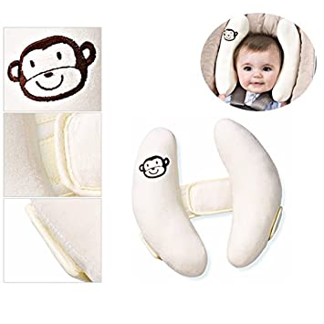 Premature Baby Car Seat Kid Head Neck Support Pillow Trolleys Adjustable Child
