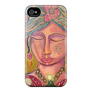 Shock-Absorbing Cell-phone Hard Covers For Iphone 4/4s With Unique Design Vivid Muse Skin VIVIENRowland