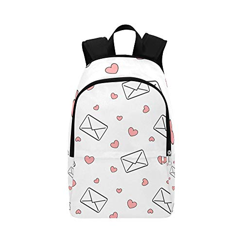 HTJZH Envelope and Love Letter Paper Casual Daypack Travel Bag College School Backpack for Mens and Women