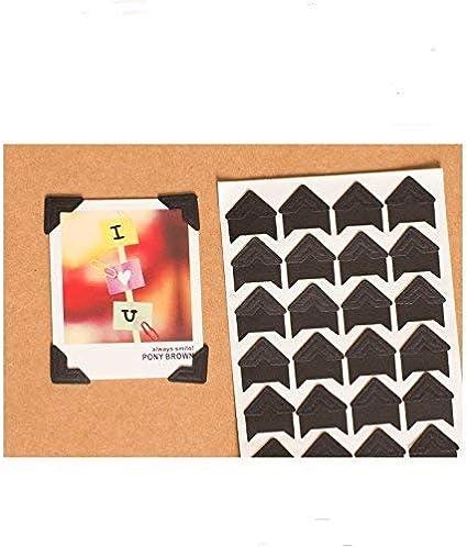 3000 pc Darice BLACK Photo Corners 12 boxes Adhesive ACID FREE Archival Quality