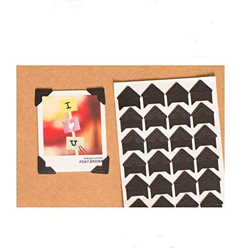 - 360 Count Self-Adhesive Acid Free Photo Corners Scrapbooks Memory Books (Black)
