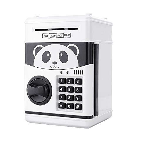 AMPERSAND SHOPS Panda Password Security Box Money Coin Bank