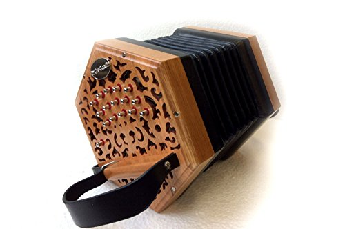 Garvey The Clare Irish Traditional Button Concertina Accordion - Professional Quality - Made to Order by Garvey The Clare