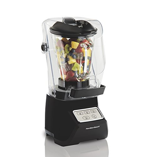 Almond Handy Shield - Hamilton Beach 53600 SoundShield Blender, 950 Watts, 3-Speed, with Pulse, Blends Food and Drinks, Stainless Steel Blades, 52 oz. Glass Jar, BPA-Free
