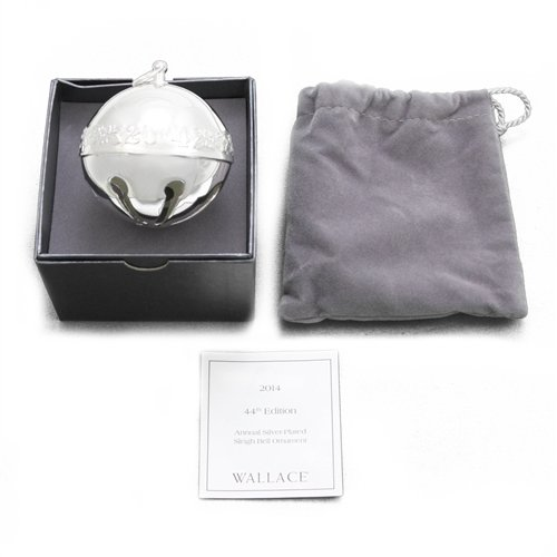 Wallace Sleigh Bell Silverplate - Wallace 2014 Sleigh Bell Silverplate Ornament by