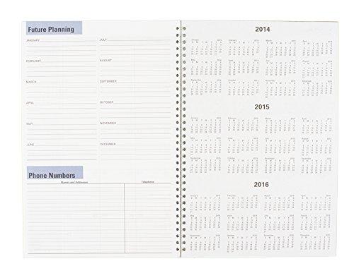 DayMinder Monthly Planner 2015, Wirebound, 7.88 x 11.88 Inch Page Size, Black (SK2-00) Photo #4