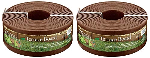 - Master Mark Plastics 95340 Terrace Board Landscape Edging Coil, 5-inch x 40-Foot, Brown (Pack of 2)