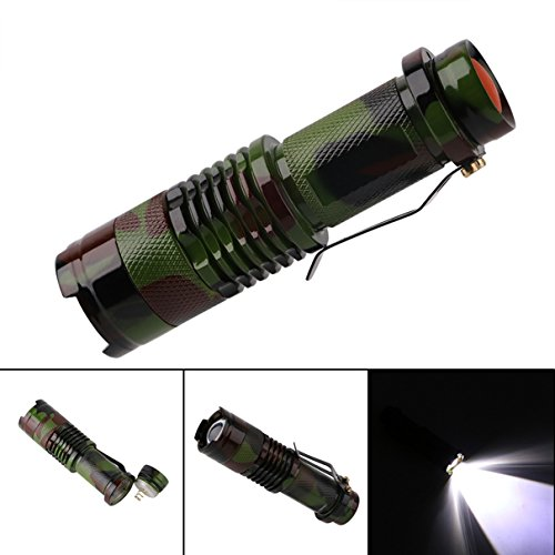 1 Set 1000 Lumens Camouflage Army Green XPE LED Flashlights 3W Convex Lens Flashlight Magnificent Fashionable Ultra Xtreme Tactical Military Bright Light Waterproof Outdoor Fishing Camping Lights