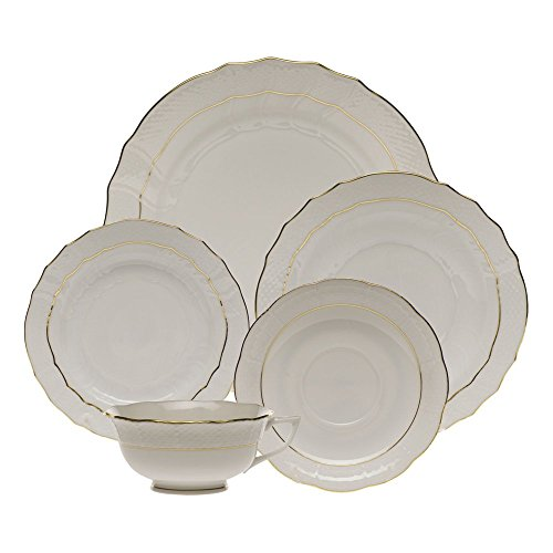 Herend Golden Edge Five Piece Place (Master 5 Piece Place Setting)
