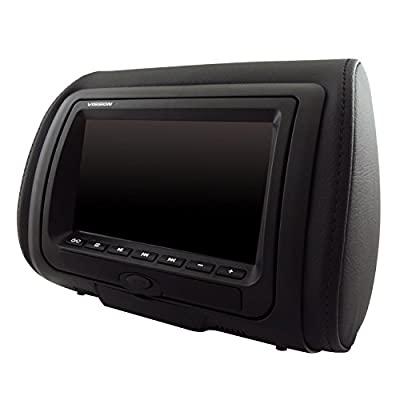 "7"" High Definition LED Dual Headrest with DVD/USB/SD and Video Game Entertainment System Vission AM-HDS7"