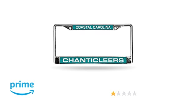 Rico Industries NCAA Coastal Carolina Chanticleers Laser Cut Inlaid Standard Chrome License Plate Frame