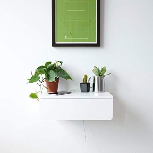 Amazon Com White Floating Nightstand With White Drawer Handmade