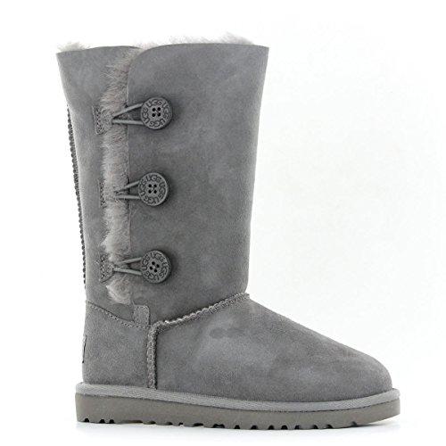 ugg-australia-bailey-button-triplet-grey-kids-boots-size-12-uk