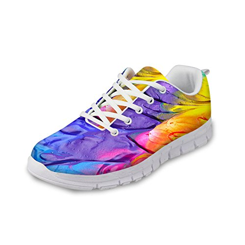 HUGS Running Design 1 Fashion Sneakers Lightweight Casual Painting Shoes Women's Colorful IDEA r6E8x6