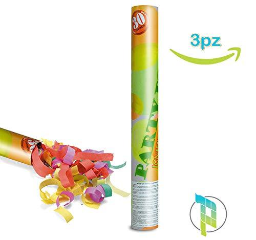 Palucart 3 sparacoriandoli matrimonio spara coriandoli compleanno party popper 30cm cannone sparacoriandoli colorati 04170