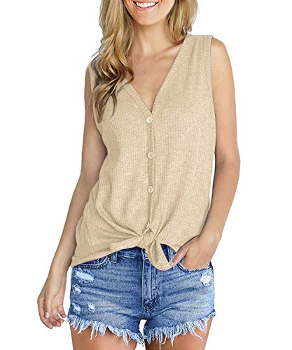 (KAIDER Women Summer Tank Tops Tunic Blouse Sleeveless Shirts)