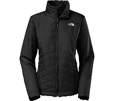 2ed49a863a7 The North Face Women s Mossbud Swirl Reversible Jacket at Amazon Women s  Coats Shop