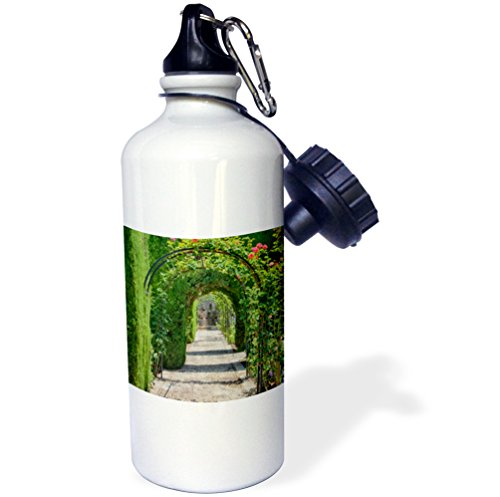3dRose wb_188635_1 Spain, Granada, Alhambra Archway Of Trees Sports Water Bottle, 21Oz, Multicolored by 3dRose
