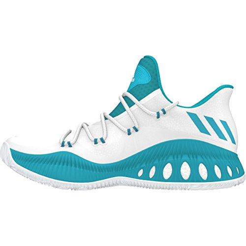 Adidas Gek Explosieve Lage Schoen Basketbal Van Mensen Wit-blauwgroen-zwart