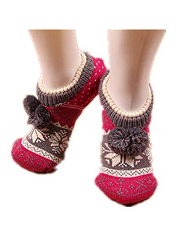 Women-Knitted-Snowflake-Prints-Slipper-Socks-Cherioll-with-Grips-Anti-skid-Socks