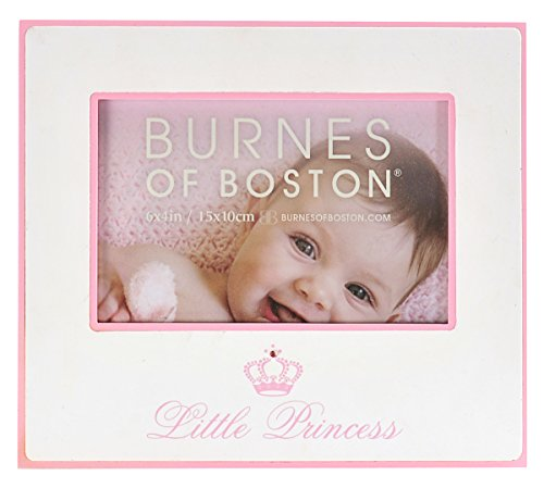 Burnes of Boston 540664 Baby Baby Little Princess with Crown and Jewel Picture Frame, Pink, 6 by 4-Inch