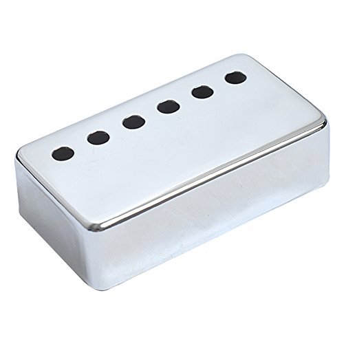 Kmise A7507 1 Piece Chrome Les Paul Guitar Bridge Pickup Cover 52mm Pole Spacing