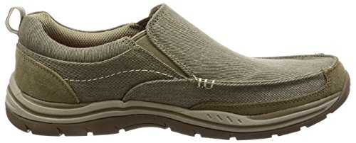 Skechers Expected-Tomen, Mocasines para Hombre Khaki