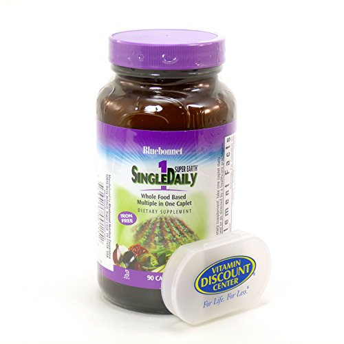 Bundle - 2 Items: 1 Bottle of Single Daily 1 Super Earth by Bluebonnet - 90 Capsules and 1 VDC Pill Box