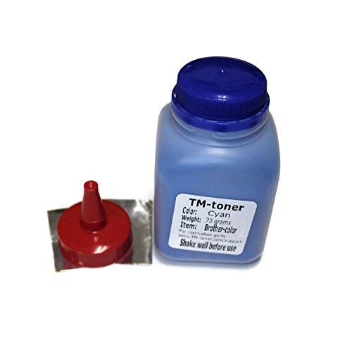 TM-toner © 70 grams Cyan Toner Refills kit for Brother MFC-9130CW, MFC-9140cdn, MFC-9330CDW, MFC-9340CDW, HL-3140CW, HL-3150cdw, HL-3170CDW, DCP-9020cdw toner cartridge Cyan Refill Kits