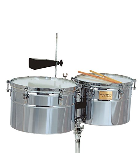 Tycoon TTI/L-1415 C Deep-Shell Chrome Finish Timbales 14″ & 15″ by Tycoon