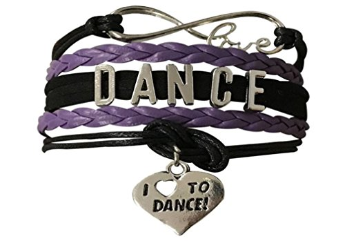 Infinity Collection Dance Bracelet- Dance Jewelry - Love Dance Charm Bracelet for Dance Recitals & Dancers