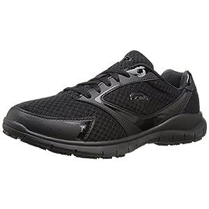 Dr. Scholl's Women's Inhale Slip Resistant Sneaker, Black, 7.5 M US