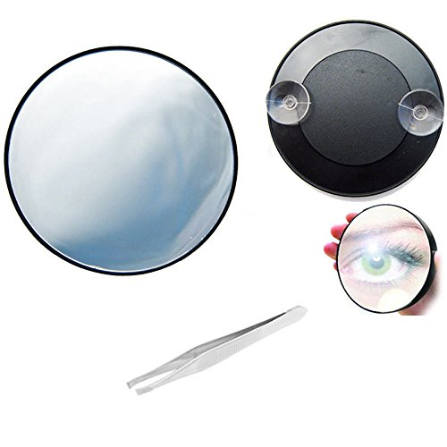 Merssavo 10X Magnifying Makeup Mirror, Magnification Cosmetic Mirror for Beauty Bedroom Shaving Traveling
