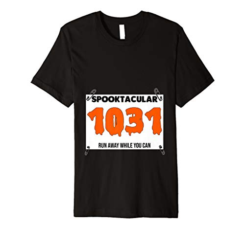 Race Bib Halloween Costume October 10 31 Zombie for Runners Premium T-Shirt