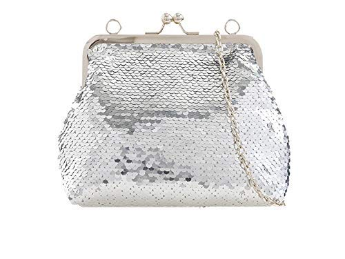 Clutch Women Silver Gold Pearl Diva Haute Bag Studs for qPXpBp