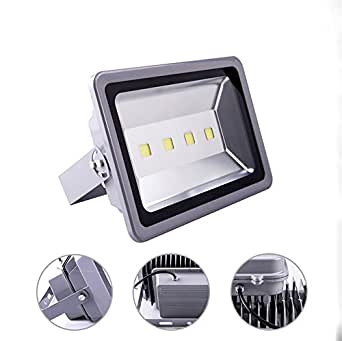 OOFAY 200W Warm White LED Flood Lights Outdoor Security Light Waterproof Workshop Lighting