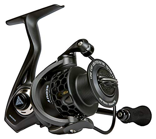 Sunrise Angler Scout 3000 Spinning Reel for Freshwater Light Weight 8.6 oz Carbon Fiber Body Triple Disc 24 lbs Max Drag 10 1 Stainless Steel BB 5.2 1 Gear Ratio EVA Grip