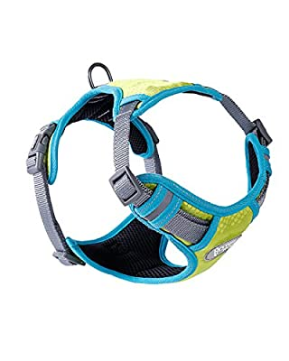 GAUTERF Dog Harness, Vest Harnesses, No-Pull Pet Harness, Adjustable Outdoor Pet Vest, Reflective Breathable Material Dogs Vest Harness,fit Small Medium Large Dog