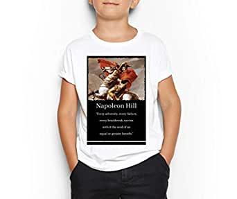 Napoleon Hill White Round Neck T-Shirt For Kids 8-9 Years